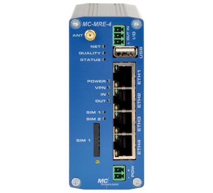 MC-MRE-4 2G-GPRS/EDGE Router mit 4-Port Switch