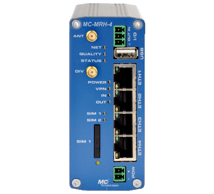 MC-MRL 3G-HSPA/UMTS Router mit 4-Port Switch