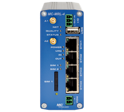 MC-MRL 4G-LTE Router mit 4-Port Switch